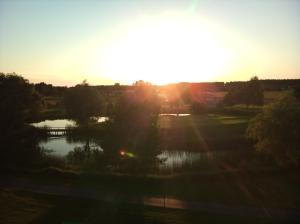 Sonnenuntergang im Golfcllub Semlin