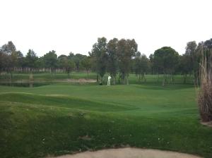 Wartender Golfer