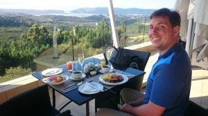 Blick von der Terrasse im Golfclub Simola